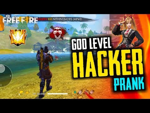 Free Fire Hacker God Level Prank - Garena Free Fire- Total Gaming