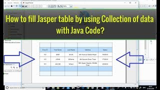 How to fill Jasper Table using Collection of data using Java?