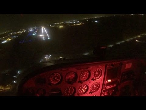Pilot's electronics go out and has to land in without any lights