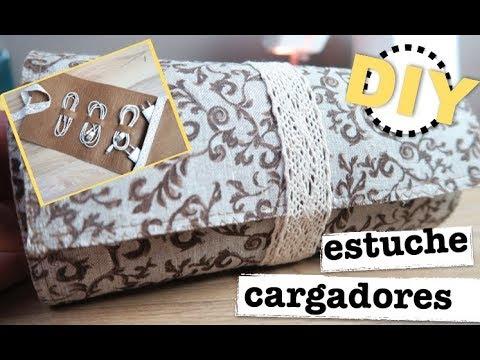 COMO HACER ESTUCHE CARGADORES | ORGANIZADOR CABLES PARA VIAJES