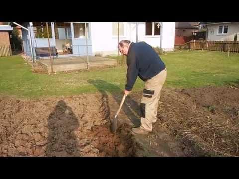Biogarten: Gemüseland umgraben im Frühjahr (16. Februar 2015)