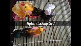How To Make Artificial Bird / Nylon Stocking Bird |come Realizzare Uccelli Artificiali