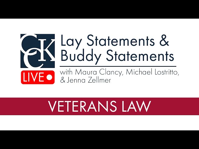 Lay Statements & Buddy Statements: How to fill the gaps in your VA claim