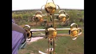Установка куполов и крестов. Днепродзержинск.