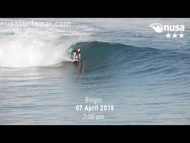07 - 04 - 2018 /✰✰✰ / NUSA's Daily Surf Video Report from the Bukit, Bali.