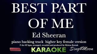 best part of me ed sheeran karaoke higher key - TH-Clip