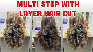 MULTI STEP WITH LAYER HAIR CUT / ADVANCED STEP HAIR CUT /  STEP BY STEP  #HAIRSOLUTION #LAYERHAIRCUT