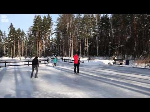 Видео: Видео горнолыжного курорта Охта-Парк в Ленинградская область