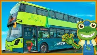 Double Decker Bus Videos For Children | Gecko