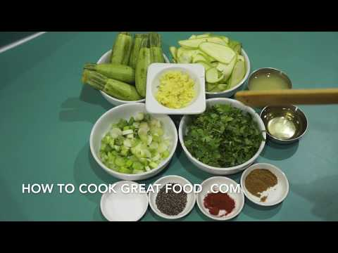 Video Raw Food Recipe - Zucchini Cilantro & Ginger Salad