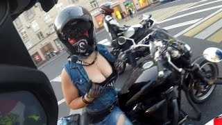 Лето, мотоциклы, девушки. :) Summer, Bikes, Girls...