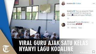 Video Viral Guru Kesenian Ajarkan Satu Kelas Bernyanyi dan Bermain Gitar hingga Respons Kodaline