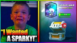 kid starts crying after getting worst legendary in clash royale