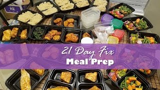 My 21 Day Fix Meal Prep