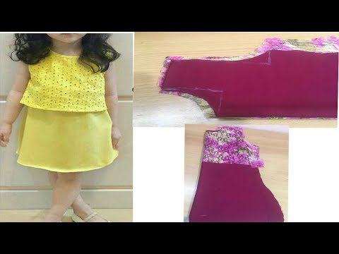 Kids Simple and Stylish dress/ frock cutting and stitching part-1
