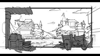 Environment Design 101- Creating A Thumbnail Sketch From A Silhouette Design