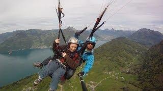 preview picture of video 'Tandem Flight Emmetten 2014'