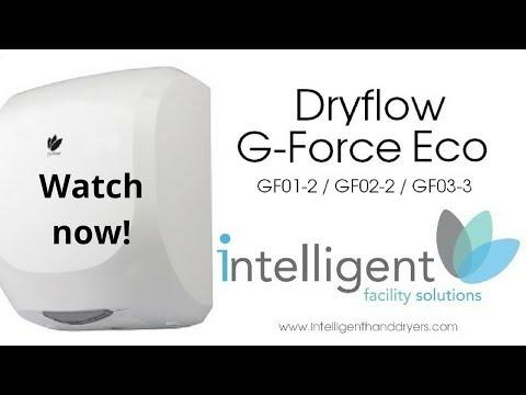 Dryflow® G-Force Eco Hand Dryer White - GF01-2