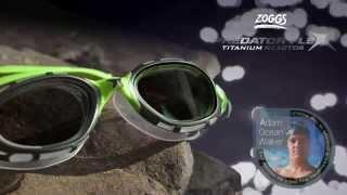 Zoggs Predator Flex Titanium Reactor Swimming Goggles - Adam 'Ocean' Walker