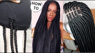 NEW METHOD! HOW TO BOX BRAIDS WIG LIKE A PRO USING CROCHET HAIR  FT DIVATRESS COM