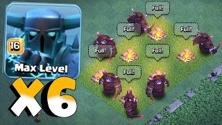 ALL MAX SUPER PEKKA RAID!! | Clash Of Clans | OVERPOWERED!?! - dooclip.me