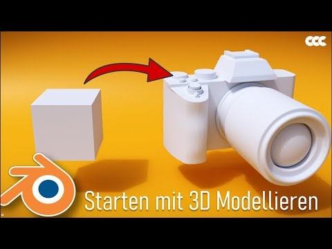Vom Würfel zur Kamera - Starten mit 3D Modellieren in Blender 2.8 (Tutorial Deutsch)