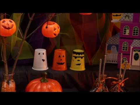 DIY Happy Halloween decoratie bekertjes