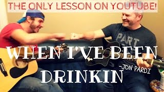 When I've Been Drinking - Jon Pardi Guitar Lesson