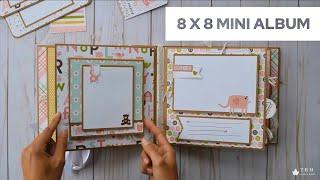Baby Girl Mini Album 8 X 8   Echo Park - New Addition