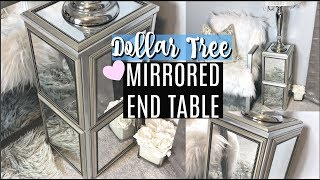 DOLLAR TREE DIY MIRRORED END TABLE | STURDY & EASY | CHIC ON THE CHEAP
