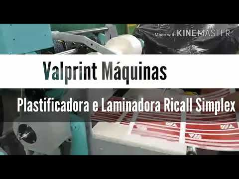 Plastificadora e Laminadora Térmica,Ricall Simplex 60