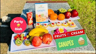 Canapés fruit cream party dish recipe