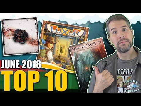 Top 10 most popular board games: June 2018