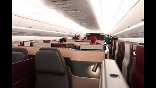 Qatar Airways Airbus A350-1000 Aircraft Tour & Q-Suite Review at its Inaugural Flight at JFK Airport
