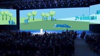 Ausschnitt aus Erklärvideo: Animation auf Bühne