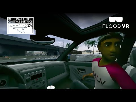 A 360° video that simulates your car getting swept away in a flash flood