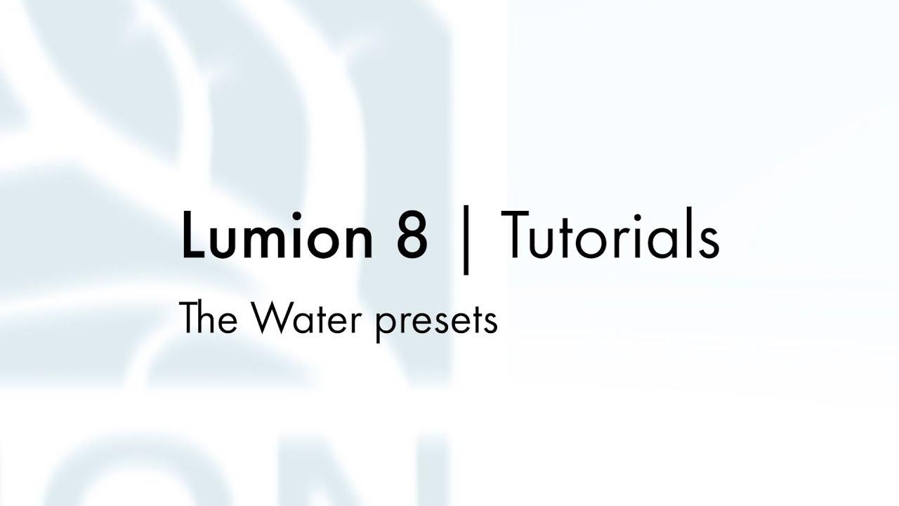 マテリアル:プリセット水マテリアル(Lumion8 series)