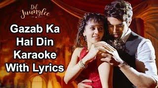 Gazab Ka Hai Din Karaoke With Lyrics | Dil Juunglee | Jubin Nautiyal  Prakriti Kakar