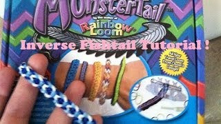 """Inverse Fishtail"" Monster Tail Rainbow Loom Tutorial!!"