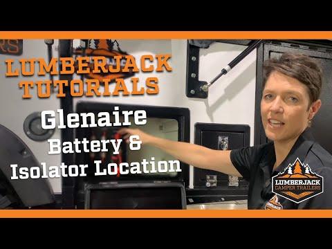 Glenaire Ultra Light Battery & isolator location