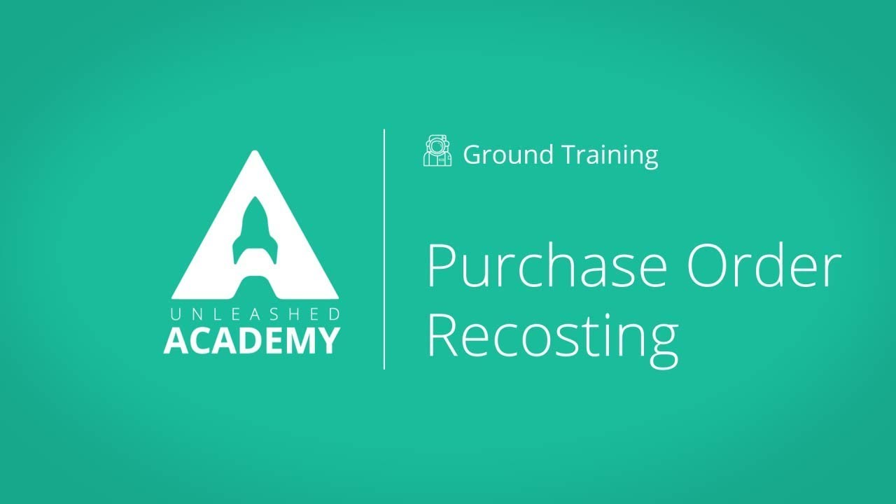 Purchase module: Order Recosting YouTube thumbnail image