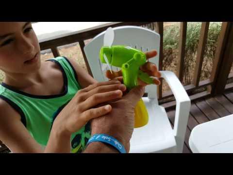 Ventilatore manuale e acqua nebulizzata