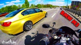ЗАРУБА С БУМЕРОМ В ЦЕНТРЕ ГОРОДА | BMW M3 F80 vs Honda Fireblade