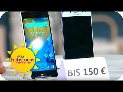 Smartphones im Test: Was taugen 150€-Smartphones? | SAT.1 Frühstücksfernsehen | TV