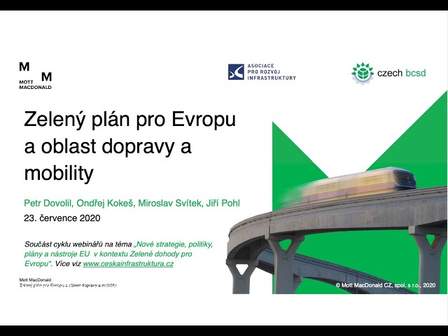 Zelený plán pro Evropu a oblast dopravy a mobility