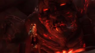 God of War - Kratos vs THERA TITAN Daughter of Gaia