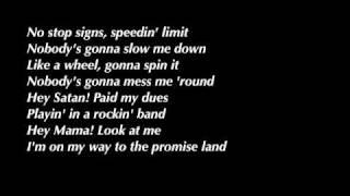 """Video thumbnail of """"AC/DC - Highway to Hell Lyrics HQ"""""""