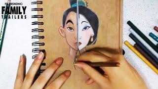 Disney Princess Speed Art Drawing - MULAN
