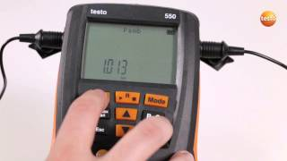 Setting Up Parameters On The Testo 549,  550 And 557