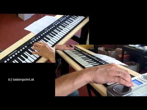 WIE COOL! Das Rollpiano oder auch Klavier zum Aufrollen genannt
